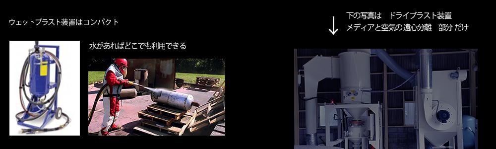 車両の塗装剥離のドライブラスト工法の装置規模